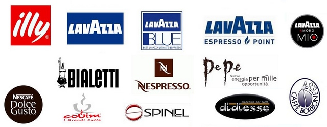 Some brands of coffee and Italian coffee machines