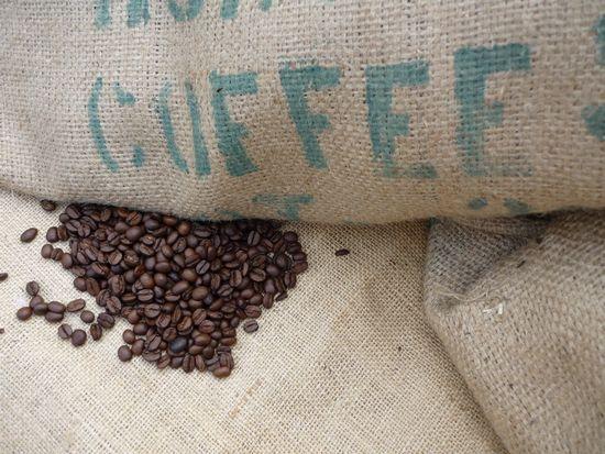 Sacco di caffè in grani